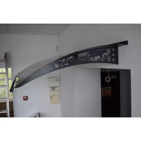 Збірний металевий дашок Dash`Ok Фауна 2,05x1,5 м з стільниковим полікарбонатом 6 мм