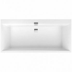 SQUARO EDGE 12 ванна 180x80 см з ніжками і зливом-переливом white alpin