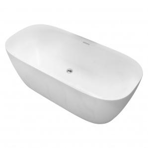 Ванна 170x80x58 см окремостояча з сифоном матова