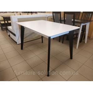 Дерев'яний стіл Мілан 120х80 см прямокутний розкладний венге білий