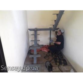 Металлокаркас маршевой лестницы