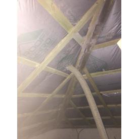 Утеплення даху целюлозним утеплювачем Ековата