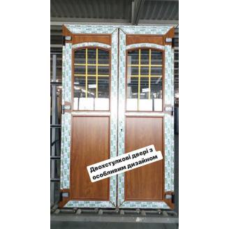 Двері металопластикові вхідні EKIPAZH ULTRA 6 1400x2000 см