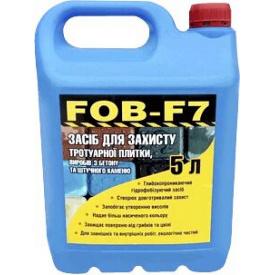 Гидрофобизатор водооталкивающая пропитка FOB-F7 для тротуарной плитки, бетона, камня, кирпича 2,5 л