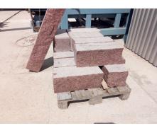Стеновой камень из гранита Лезниковского месторождения 600/300/200+50 мм