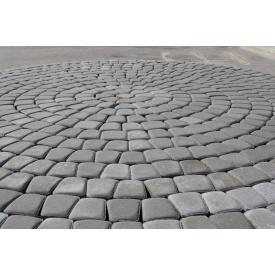 Тротуарна плитка Старе місто 4 см сіре на сірому цементі