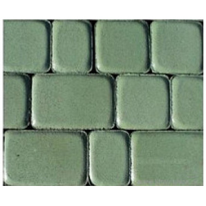 Тротуарная плитка Старый город 4 см зеленая на белом цементе