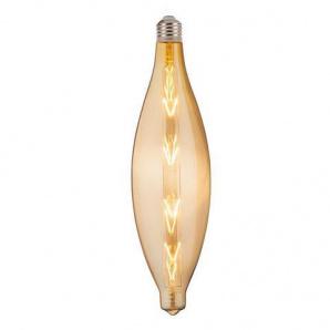 Лампа винтажная светодиодная (ретро) Filament led ELLIPTIC 8W E27 2400К Титан