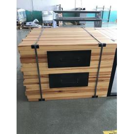 Стол Модерн деревянный 1300х1392 мм с металлическими шухлядами