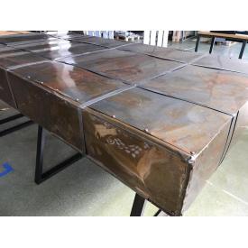 Стол Модерн металлический в стиле лофт 1040х1270х2510 мм