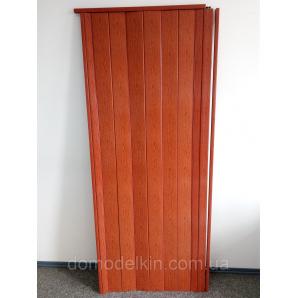 Двери гармошка глухая ольха красная 266 810х2030х6мм