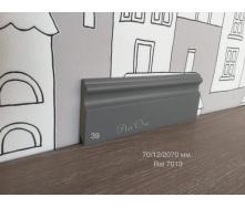 Плінтус вологостійкий мдф фарбований №41 60х14х2070