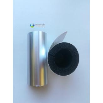 Утеплювач труб 89 (9) мм Kaiflex зі спіненого каучуку з алюм покриттям AL PLAST під нержавійку для зовнішнього застосування
