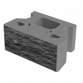 Бетонный блок Маквол для подпорных стен серый