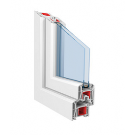 Віконна профільна система STANDART 60 3-камерна 1000х1200 мм біла