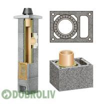 Комплект керамічного димоходу Schiedel Rondo Plus однотяговий з вентиляцією Plus 160 мм 8 м