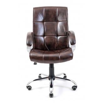 Офісне крісло Richman Арізона Хром М-1 кожзам коричневий