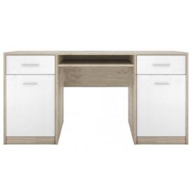 стіл письмовий BIU150 дуб Сонома + німфея альба Непо Гербор