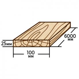 Доска обрезная Wood Delivery сосновая 100х25х6000 мм