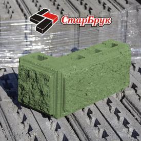 Рваный блок угловой 200х400х200 зеленый