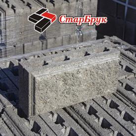 Рваний блок прямий 200х400 сірий
