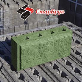 Рваний блок прямий 200х400 зелений