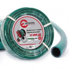 """Шланг для полива 3-х слойный 3/4"""", 10м, армированный PVC INTERTOOL GE-4041"""