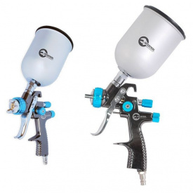 Краскопульт пневматический INTERTOOL PT-0133 LVLP BLUE профессиональный верхний металлический бачок