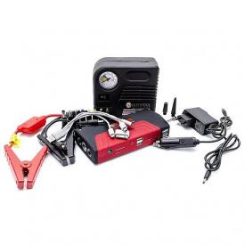 Набор пускозарядное устройство универсальное INTERTOOL AT-3010 16800 mАч + мини компрессор
