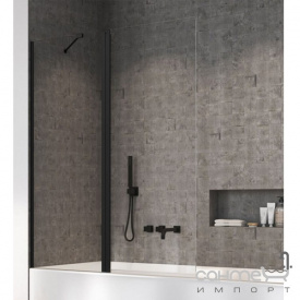 Шторка для ванны Radaway Nes Black PND 110 10009110-54-01L левосторонняя, черная/прозрачное стекло