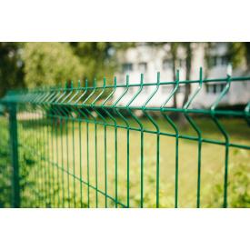 Секция ограждения Сетка Запад 5/5 мм 1,53/2,5 м с ПП зеленая