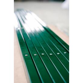 Столб прямоугольный для ограждения 3 м зеленый