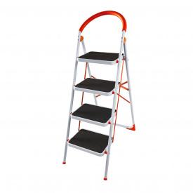 Стремянка стальная Laddermaster Intercrus S1A4. 4 ступеньки