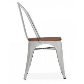 Металлический стул SDM Talix 840х450х350 глянцевый серый