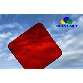 Кольоровий монолітний полікарбонат 3мм, червоний, м.кв