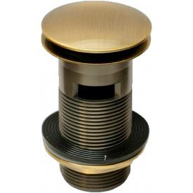 Донный клапан латунный для раковины McALPINE Click-Clack c переливом 1 1/4x90x60 DECOR