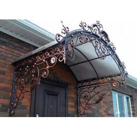 Кованый навес металлический для входной двери Legran