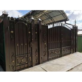 Кованые ворота закрытые Legran