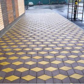 Тротуарная плитка Ромб 150x150 мм