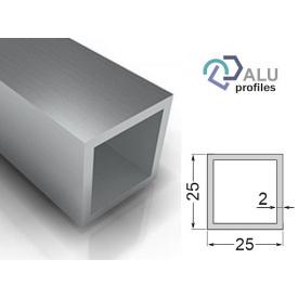Труба квадратна алюмінієва 6063Т5 25х25х2х5000 мм