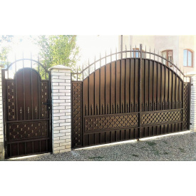 Ворота с профнастилом под ключ Киев Legran