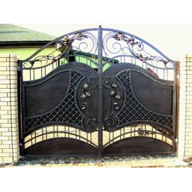 Ворота кованные Киев для дома закрытые с художественной ковкой Legran