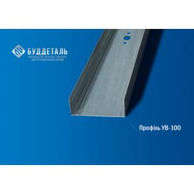 Профіль для гіпсокартонних систем UW-100 (0.6мм) 3м