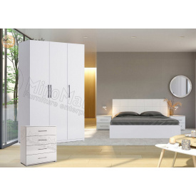 Спальня 3Д белый глянец Фемели Миро-Марк