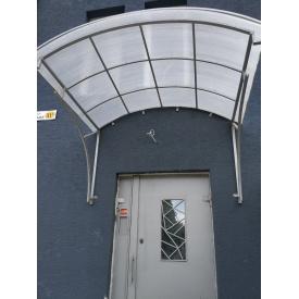 Козырёк фасадный кованый для новостроек и коммерческой недвижимости Legran