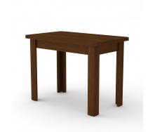 Нерозкладний кухонний стіл КС-6 Компанит 736х1000х600 мм ДСП горіх-еко
