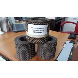 Карнизная вентиляционная лента 100 мм 5 м п коричневая