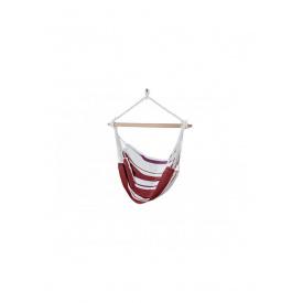 Гамак кресло 150 х 120 см красный-белый K10-110421