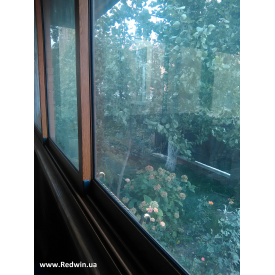 Раздвижные окна и двери из алюминия с покраской