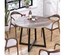Круглий обідній стіл Loft-Design Бланк 762х1000 мм дуб-Палена